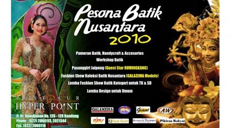 Pesona Batik Nusantara 2010 – Pasteur Hyper Point Bandung