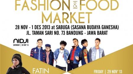 Bandung Fashion & Food Market 2013 – Sasana Budaya Ganesha ( Sabuga )